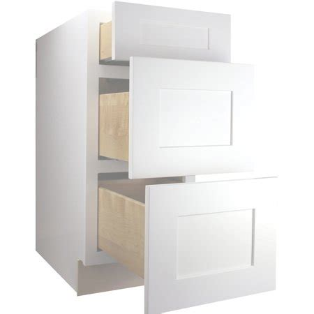kitchen cabinets ready to assemble rta all wood cabinet mania white shaker db12 drawer base cabinet 12