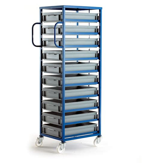 mobile tray racks  euro container box trays