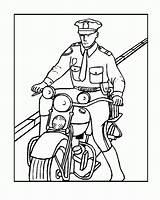 Coloring Police Policeman Badge Printable Officer Motorcycle Polizei Ausmalbilder Colouring Motorrad Coloringhome Officers Sheets Cartoon Popular Sketch Template Kostenlos Letzte sketch template