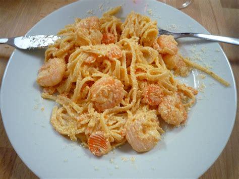 recette de cuisine avec des crevettes linguine crevettes mascarpone et carottes la cuisine