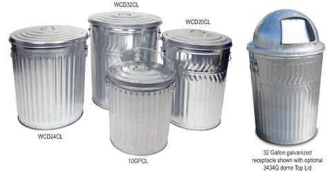 Galvanized Trash Can, Galvanized Garbage