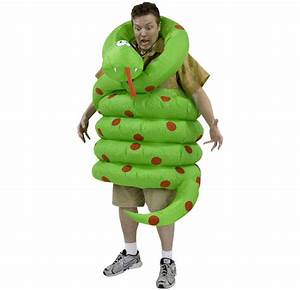 Inflatable Wrap Around Snake Costume - The Green Head