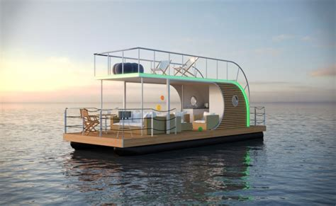 best one house plans nautilus houseboat offers modern lifestyle and luxury