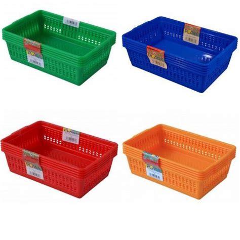 kitchen vegetable storage baskets set of 5 colourful small plastic handy fruit vegetable 6379
