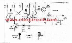 5v Switching Regulator Circuit Using Transistor
