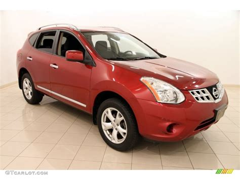 red nissan rogue 2011 cayenne red nissan rogue sv awd 104096276 photo 7