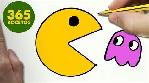 como dibujar  pac man kawaii paso  paso dibujos