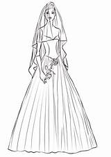 Coloring Bride Rose Pages Printable Wedding Template Categories Drawing sketch template