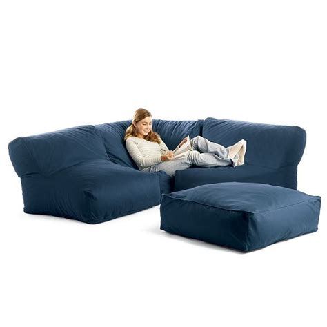 Bean Bag Settee by Bean Bag Sectional Sofa Ideas For The Basement Low