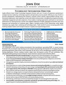 Resume Education Section Technology Director Resume Example It Integration