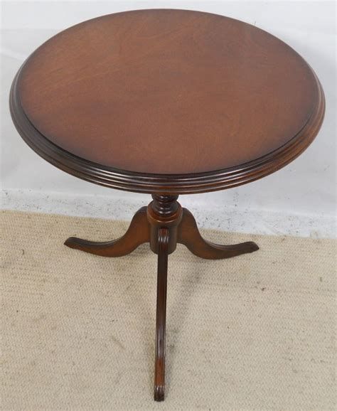 small pedestal table small solid mahogany pedestal wine table sold