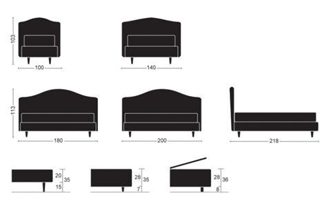 misure culle letto imbottito arem per da letto