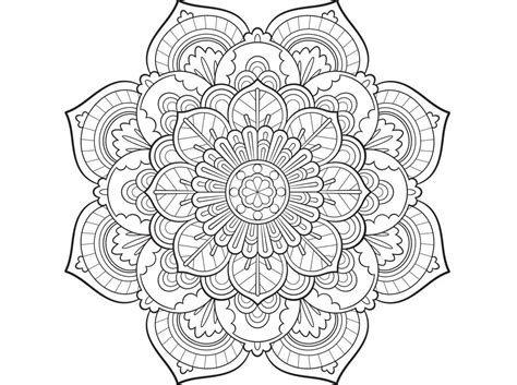 colouring pages mandala