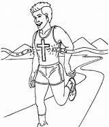 Race Run Coloring Running Vbs Bible Perseverancia Hebrews Endurance God Shorts Sermons4kids Again Children Crafts Que Church Carrera Con Sunday sketch template