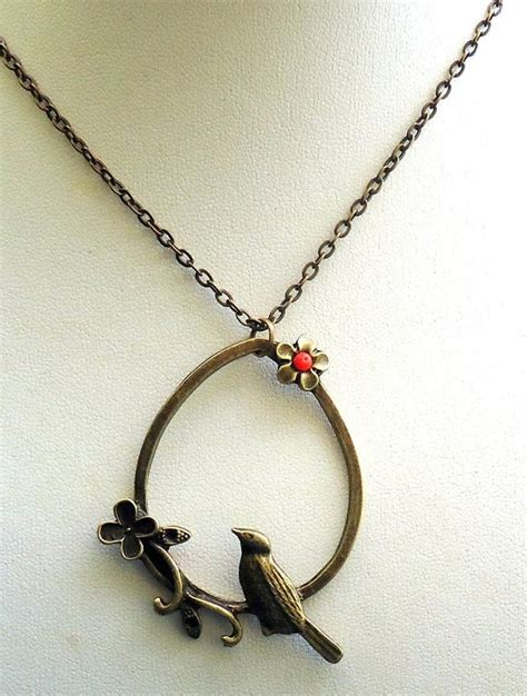 Vintage × necklace × jewelry ×. Items similar to Bird Necklace on Etsy