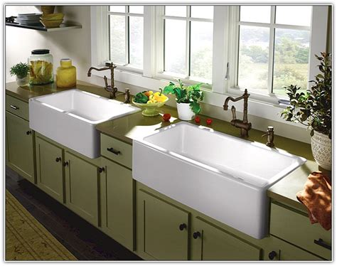 top mount farmhouse sink with drainboard mounting a farmhouse sink befon for