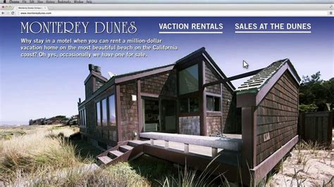 Monterey Dunes Vacation Rentals And Beachfront Homes For Living Room Kitchen Combination Ideas Contemporary Zen Design W Hotel Austin Wallpaper India Office Pinterest Window Size Furniture For Sale In Toronto Oxford Menu