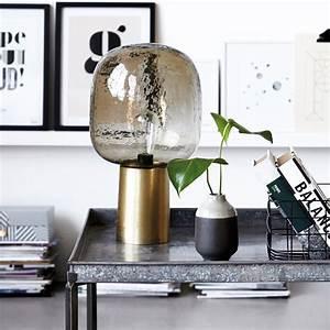 House Doctor Papiersterne : lampe de table note en laiton et verre de house doctor ~ Michelbontemps.com Haus und Dekorationen