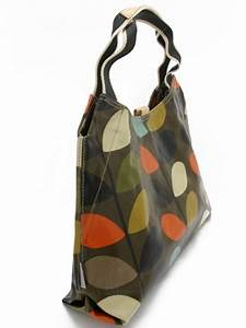 Orla Kiely Dark Multi Stem Classic Shoulder Bag In Dark