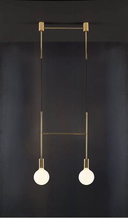 Minimal Lighting Twist Pendant Unexpected Metallic Side