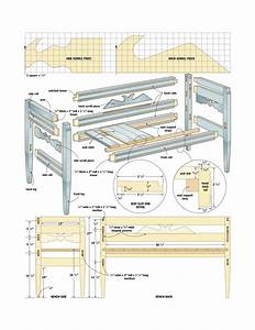 Wood Woodworking Plan For Bench PDF Plans
