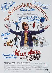 Lot Detail - Willy Wonka & The Chocolate Factory Cast ...