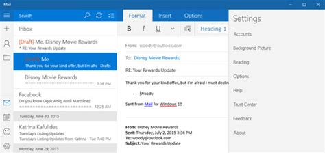 Office 365 Mail App For Windows by Windows 10 Universal Mail Settings Dummies