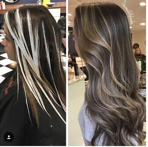 morenas iluminadas tenido del cabello cabello