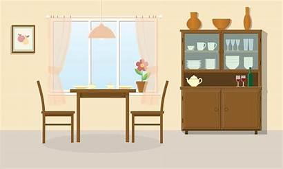Dining Sala Cartoon Pranzo Clip Kitchen Window