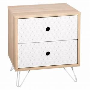 Table De Chevet Scandinave Ikea : table de chevet 2 tiroirs scandinave effy 40cm naturel ~ Teatrodelosmanantiales.com Idées de Décoration
