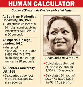 Shakuntala Devi – Life and Legacy - AnanthKumar