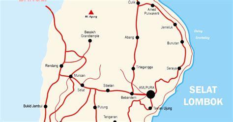peta kabupaten karangasem bali lengkap peta dunia