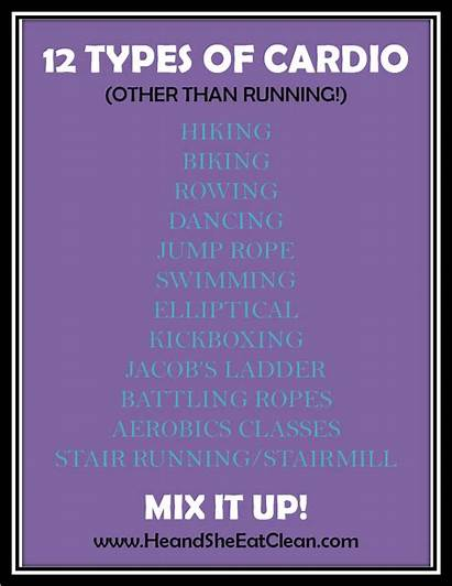 Cardio Workout Routine Mix Types Fitness Running