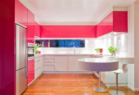 fuschia pink kitchen accessories how to make pink kitchen without lining the walls 3686