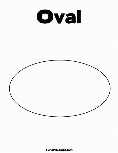 Coloring Oval Printable Pages Colouring Shape Template