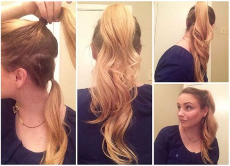 make your hair look longer with this ponytail trick