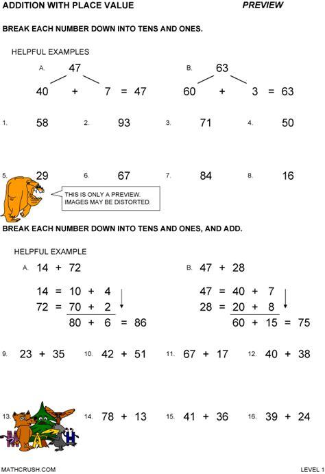 addition worksheets  math crush