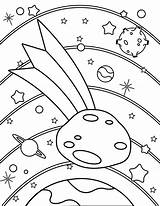 Pages Asteroid Coloring Printable Template Templates sketch template