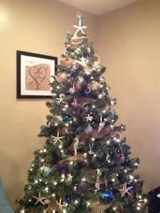beach themed christmas tree holiday pinterest