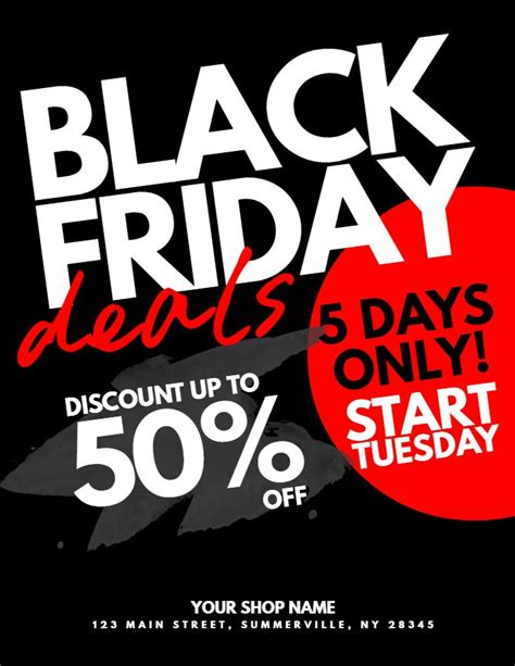 Black Frigay Template by 44 Best Black Friday Flyer Templates Images On Pinterest