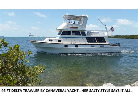 Canaveral Custom Boats by 1984 Canaveral Yachts Cockpit Trawler Powerboat For Sale