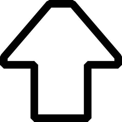 Up Clipart Up Arrow Hollow Outline Clip At Clker Vector