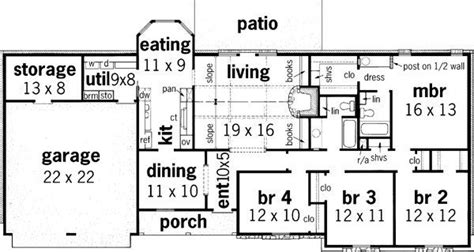 bedroom ranch house plans  ranch style house plans