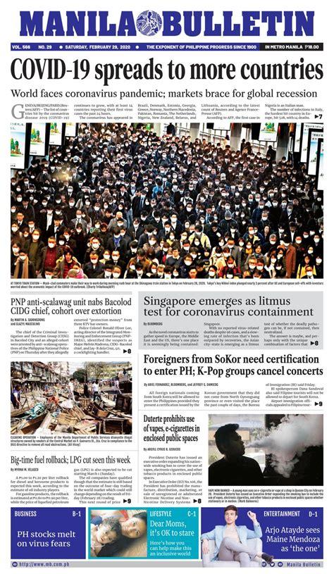 manila bulletin february   newspaper