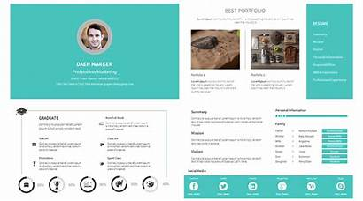 Resume Powerpoint Portfolio Template Templates Cv Personal