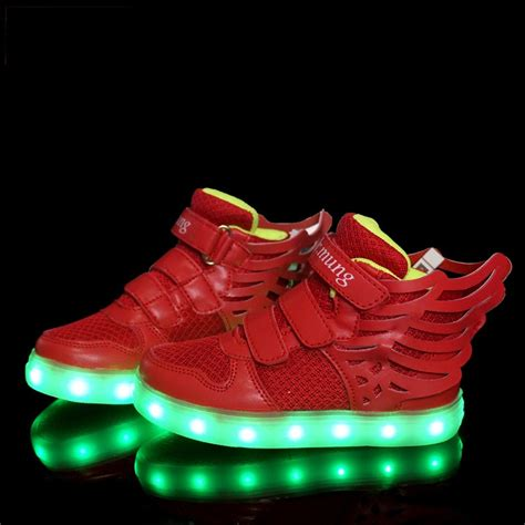 kids shoes with lights light up shoes for kids luminous wings led shoes mcbshoes