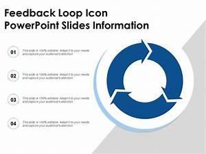 Feedback Loop Icon Powerpoint Slides Information
