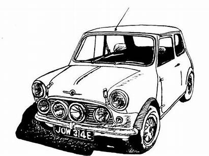 Cooper Classic Sports Drawing Drawings Cars Copper