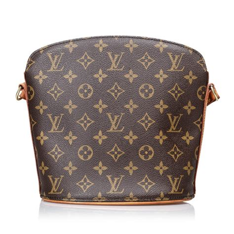 vintage authentic louis vuitton brown drouot united states  america small  sale  stdibs