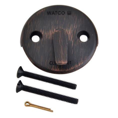 watco trip lever bathtub overflow plate kit oil rubbed